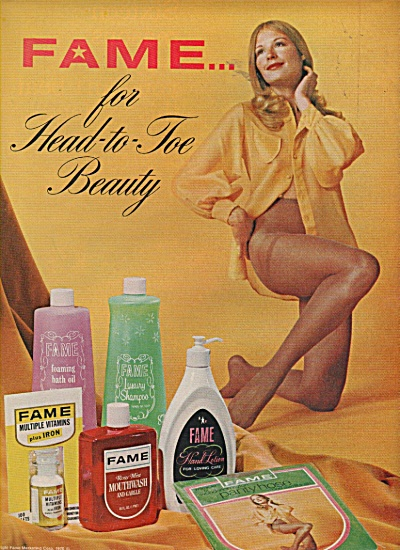 Fame for head to toe beauty ad 1970 (Image1)