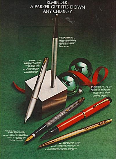 Parker pens ad 1970 (Image1)
