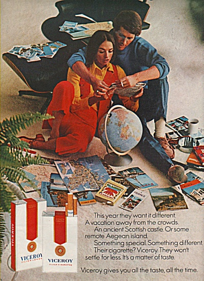 Viceroy cigarettes ad 1970 HOLIDAY (Image1)