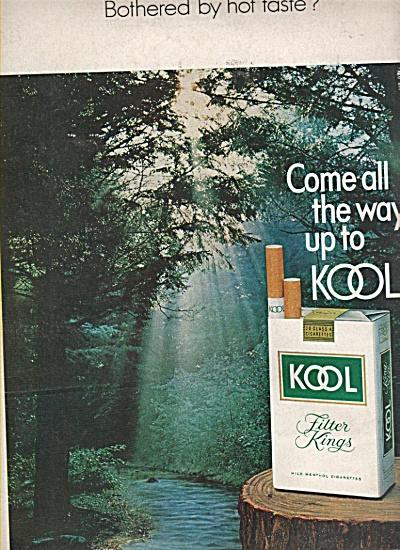 Kool tilter king cigarettes ad 1970 (Image1)