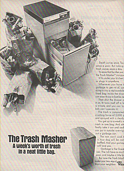 The Trash Masher by Whirlpool ad 1970 (Image1)