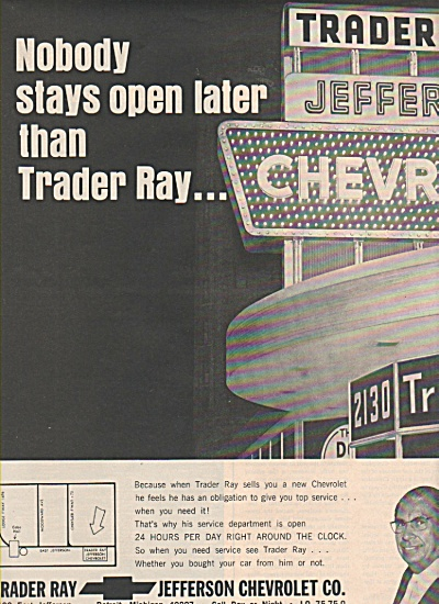 Trader Ray - Jefferson Chevrolet co. ad 1970 (Image1)