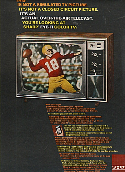 Sharp Television Ad 1970