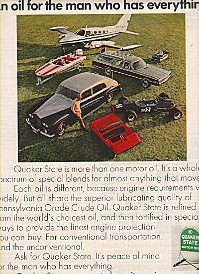 Quaker State Motor oil ad 1970 (Image1)
