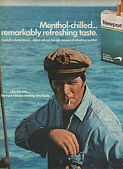 Newport filter cigarettes ad 1970 (Image1)