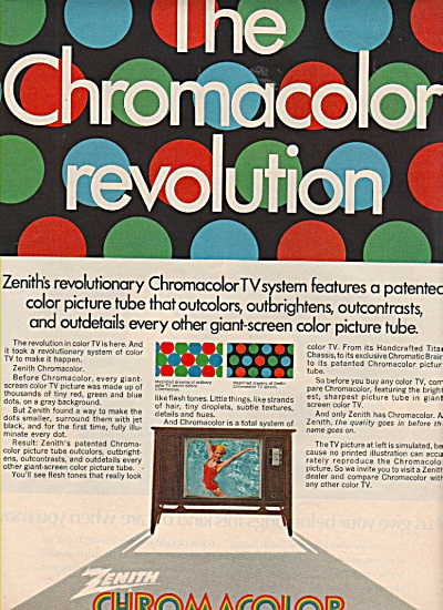 Zenith Chromacolor ad 1970 (Image1)