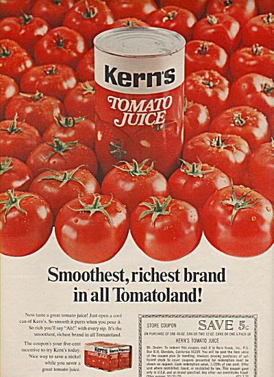 Kern's tomato juice ad 1970 (Image1)