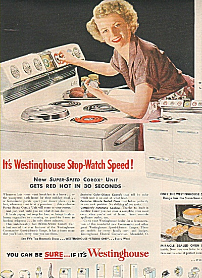 Westinghouse -  BETTY FURNESS  ad 1951 (Image1)