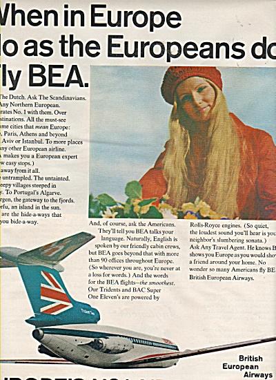 British European airways ad 1970 (Image1)