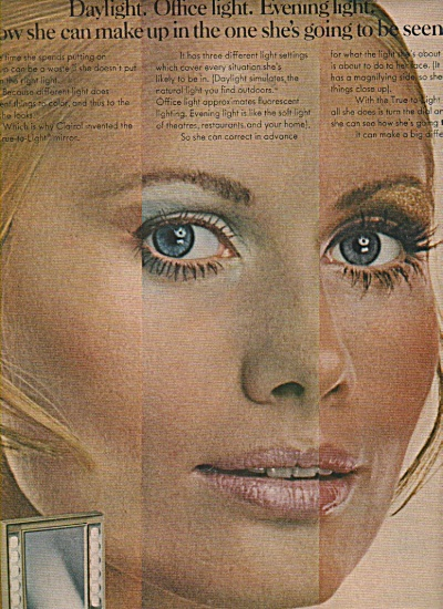 Clairol cosmetics ad 1970 EVELYN KUHN (Image1)