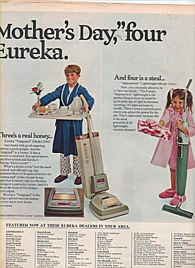 Eureka vacuum cleaners ads 1970 (Image1)