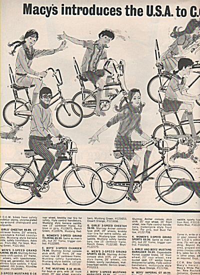 Macy's C-C-M bikes ad 1970 (Image1)