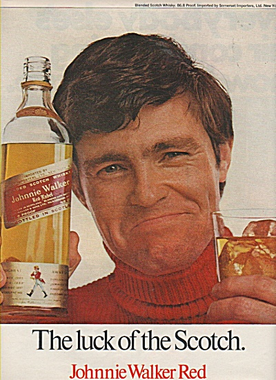Johnnie Walker Red Scotch Ad 1970