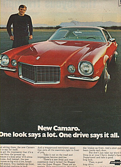 Chevrolet Camaro ad 1970 (Image1)
