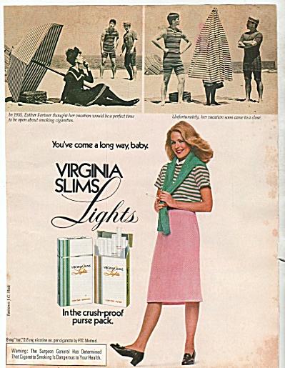 Virginia slims lights cigarettes ad  1981 (Image1)