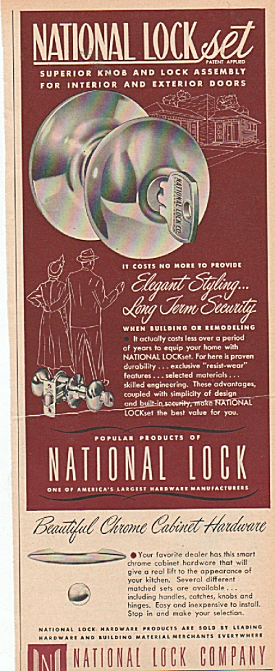 National Lock company ad 1952 (Image1)