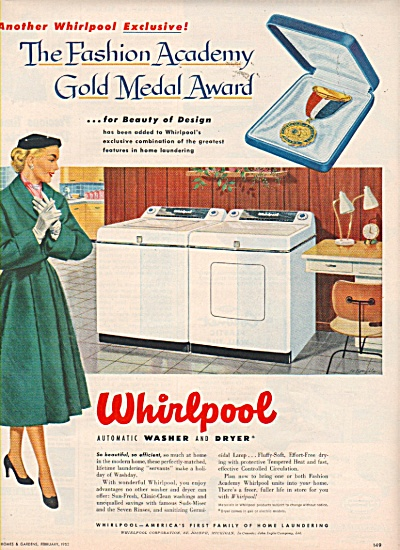 Whirlpool automatic washer and dryer ad 1952 (Image1)