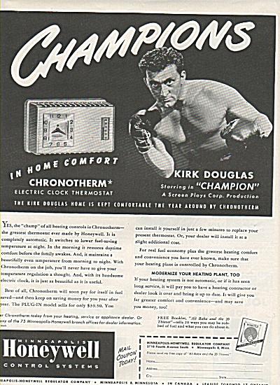 Honeywell systems =- KIRK DOUGLAS  ad 1949 (Image1)
