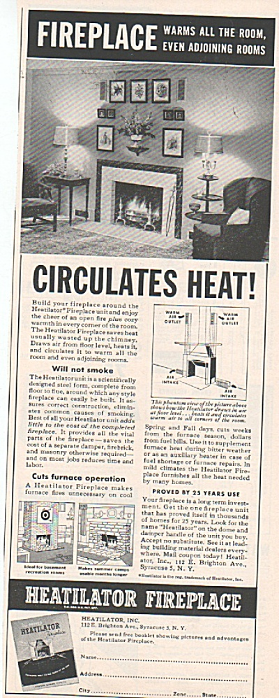 Heatilator fireplace ad 1952 (Image1)