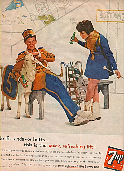Seven=up drink ad  1960 (Image1)