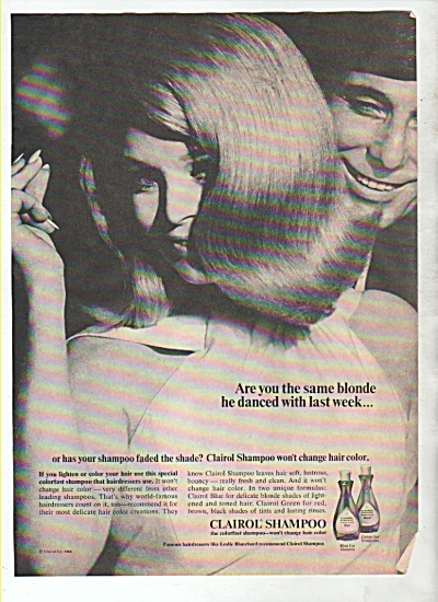 Clairol shampoo ad  1966 (Image1)