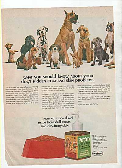 Pet'm food supplement ad 1966 (Image1)
