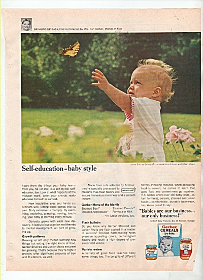 GERBERS CEREALS FOR BABY AD  1966 (Image1)
