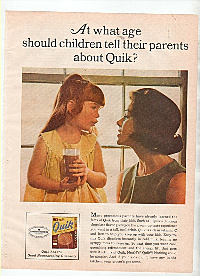 Nestle's Quik Drink Ad 1966