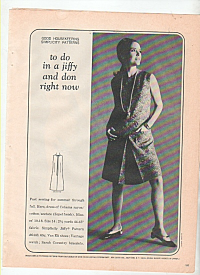 Good housekeeping simplicity patterns ad 1966 (Image1)