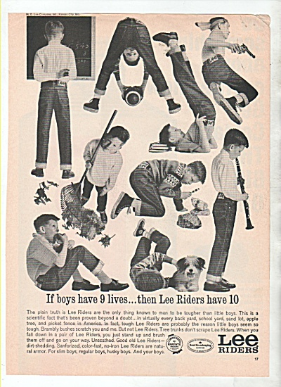 Lee Riders ad 1964 BOYS IN ACTION (Image1)
