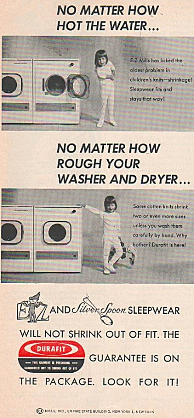 Durafit sleepwear ad 1964 (Image1)