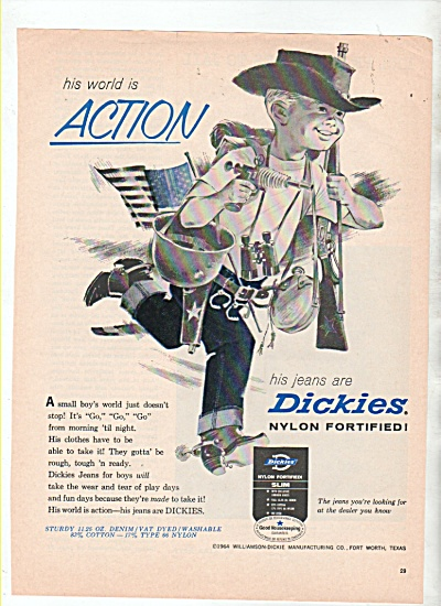 Dickies Jeans Ad 1964