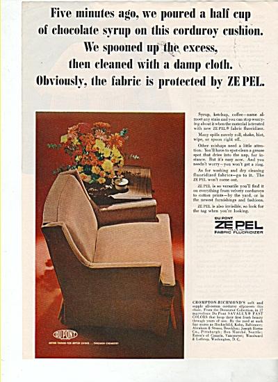 Zepel by Dupont fabric flouridizer ad 1964 (Image1)