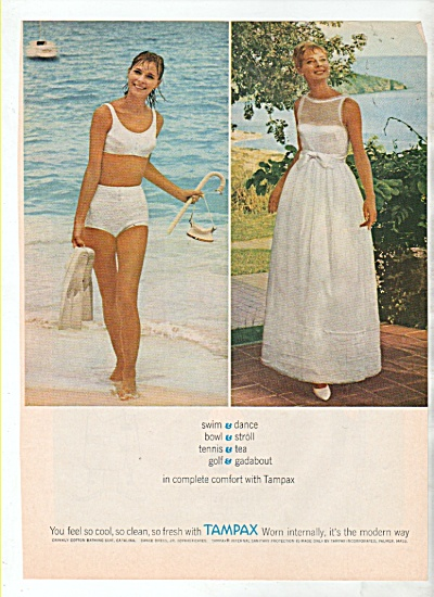 Tampax tampons. ad 1964 (Image1)