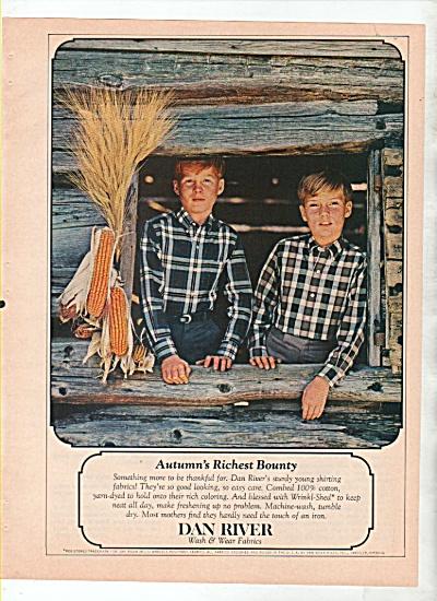 DanRiver wash and wear fabrics ad 1964 (Image1)