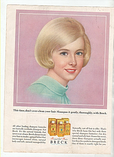 Breck beautiful hair shampoo ad 1964 (Image1)