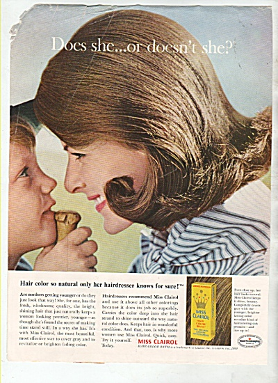 Miss Clairol hair color bath ad 1964 (Image1)