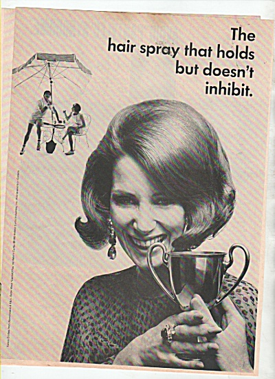 Helene Curtis spray net ad 1966 (Image1)