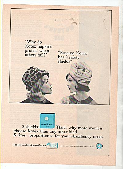Kotex napkins ad 1966 (Image1)