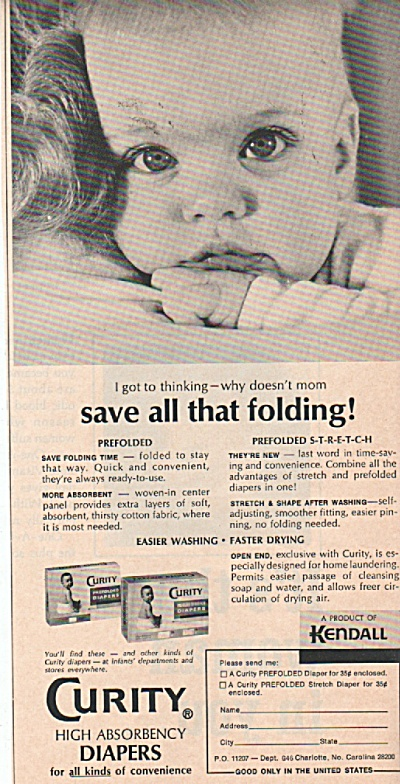 Curity high absorbency diapers ad 1966 (Image1)