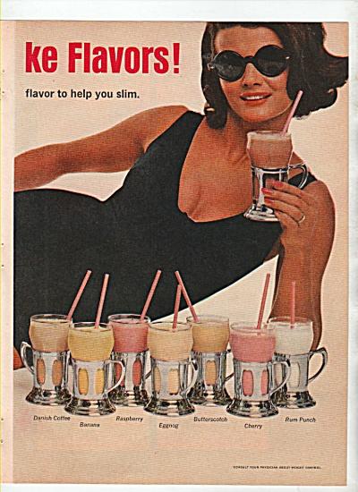 14 metrecal milkshake flavors ad 1966 (Image1)