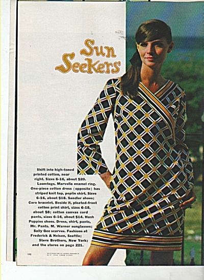 Sun seekers - Models dressed in beechwear 1966 (Image1)