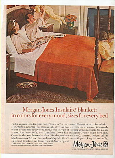 Morgan-Jones insulaire blanket ad  1966 (Image1)