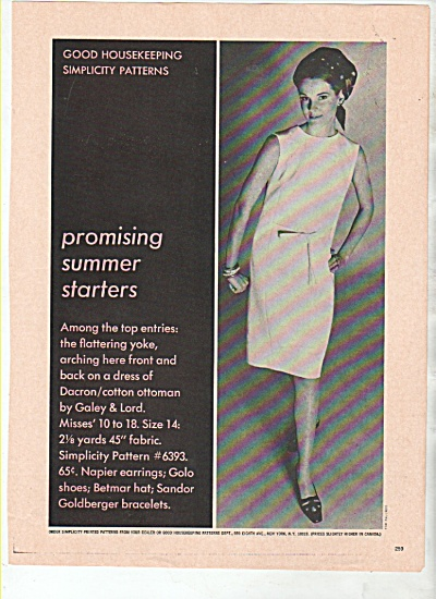 Good Housekeeping simplicity patterns  1966 (Image1)