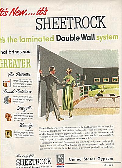 United States Gypsum Sheetrock ad 1949 (Image1)