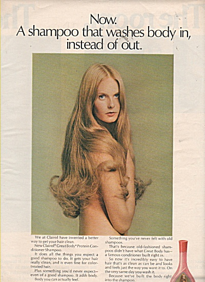 Great body conditioning shampoo from Clairol ad 1971 (Image1)