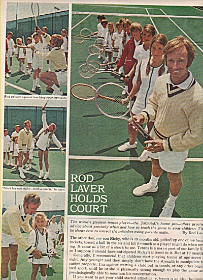 ROD LAVER  holds court ad 1971 (Image1)