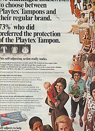 Playtex self adjusting tasmpons ad 1971 (Image1)
