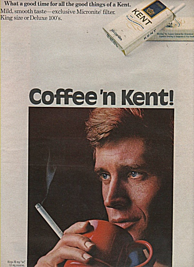 Kent deluxe 100s cigarettes ad 1971 (Image1)
