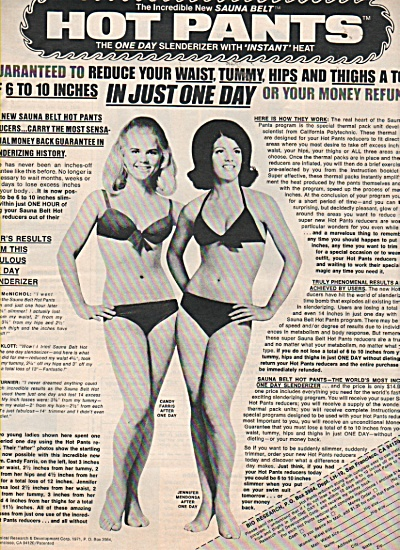 Sauna Belt - Hot pants ad 1971 (Image1)